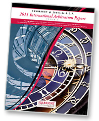 Fulbright's 2011 International Arbitration Report, Issue 1